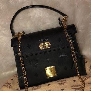 Authentic mcm black purse shoulder bag